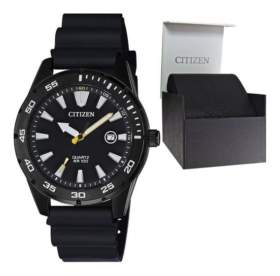 Reloj Hombre Citizen Bi1045-13e Deportivo Acero Con Caucho