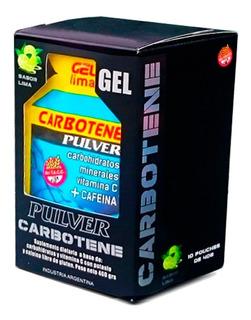 Carbotene X 10 Unidades Pulver Gel Energético Sin Tacc