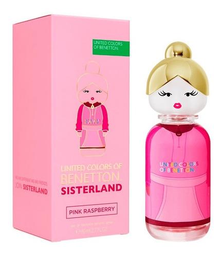 Imagen 1 de 5 de Perfume Importado Benetton Sisterland Pink Raspberry Et 80ml