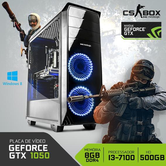 Pc Gamer Neologic Cs Box Nli7025 I3 8gb (gtx 1050) 500gb W8