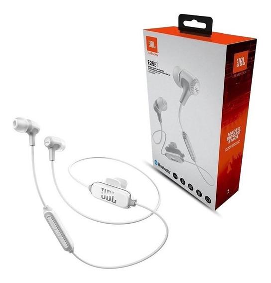 Fone De Ouvido Jbl E25 Bt Bluetooth Com Microfone Branco