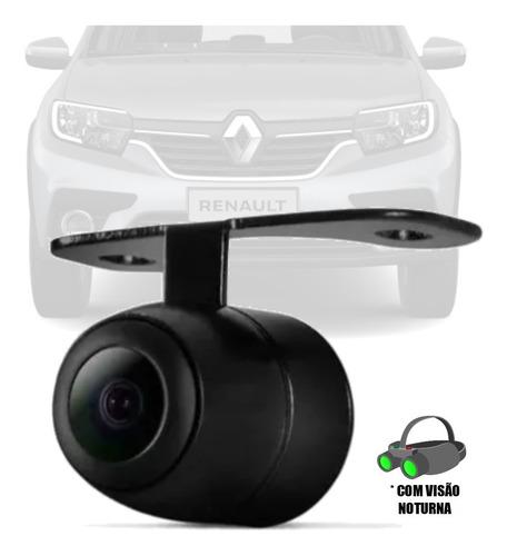 Imagem 1 de 4 de Camera De Ré (2x1) Borboleta Visão Noturna Renault Sandero