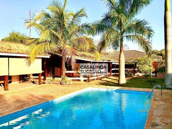 Casa Com 4 Dormitórios À Venda, 310 M², 1.000,00m² De Terreno, Por R$ 590.000 - Terras De Itaici - Indaiatuba/sp - Ca6186