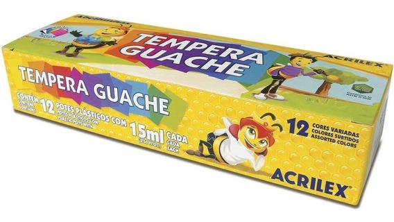 Tinta Tempera Guache 15 Ml 12 Cores Acrilex