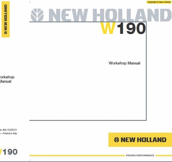 Manual De Serviço - New Holland - W190
