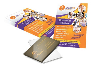 Kit 1000 Panfletos 14x21 + 1000 Cartões De Visita