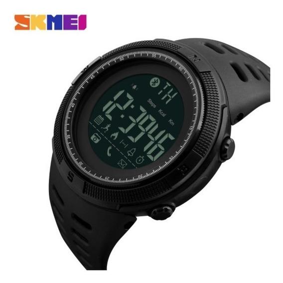 Relógio Masculino Preto Digital Bluetooth Skmei Frete Grátis