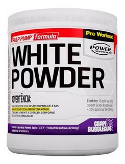 White Powder Pré Treino Creatina Cafeína Power 150g + 30 Cap
