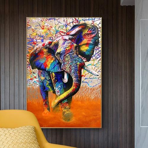 Imagen 1 de 10 de  Cuadro-elefante4-moderno,decorativo,95x60cm-16k Resolución