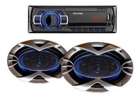 Auto Radio Mp3 Usb New One + Par Alto Falante 6x9 250 Wrms