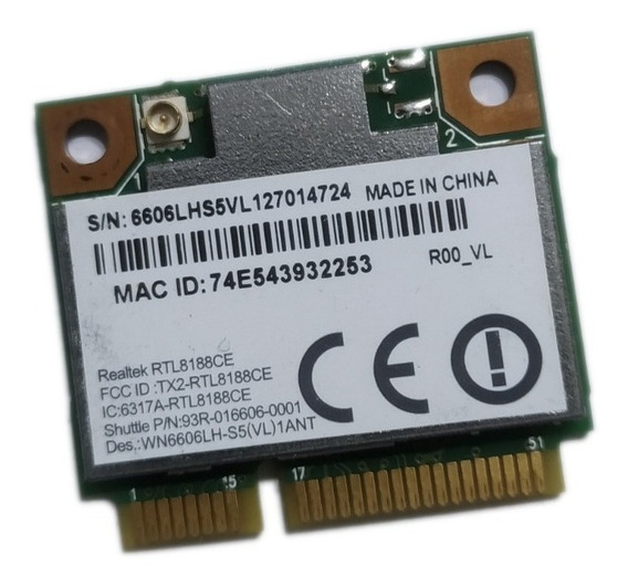 Placa Wifi B/g/n Notebook Realtek 8188ce Pcie 2.4ghz