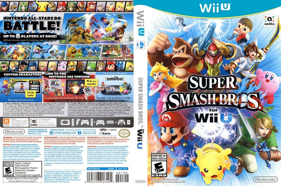 Game Super Smash Bros Wiiu Em Excelente Estado
