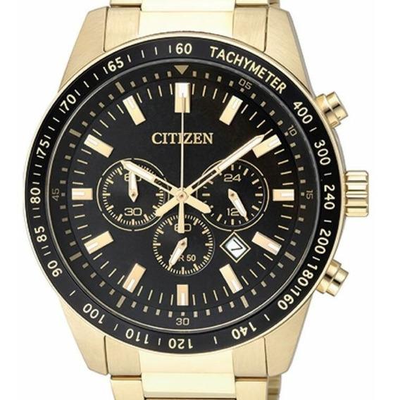 Relogio Citizen Masculino Dourado Crono - Tz30802u