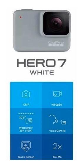 Gopro Hero 7 White Zerada C/ Kit De Acessorios