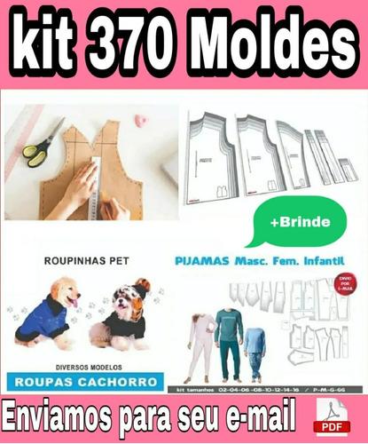 Kit 370 Moldes Modelagem Fem Masc Infantil Pet Roupas Body