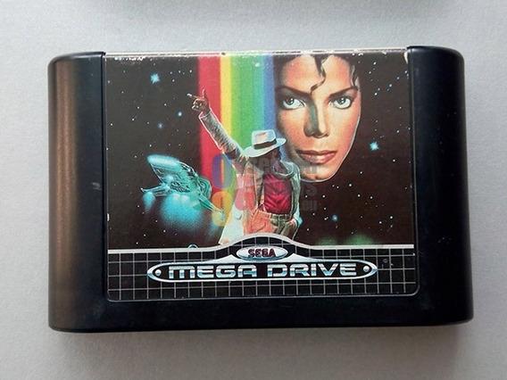 Game Mega Drive Micheal Jackson Moonwalker + Brinde !