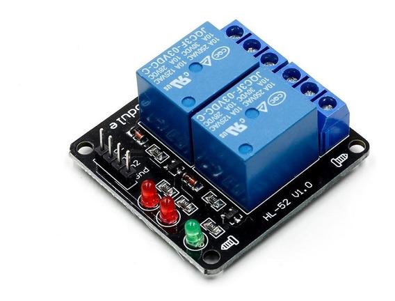 Módulo Relé 2 Canais Arduino Esp8266 Esp32 Raspberry Wemos