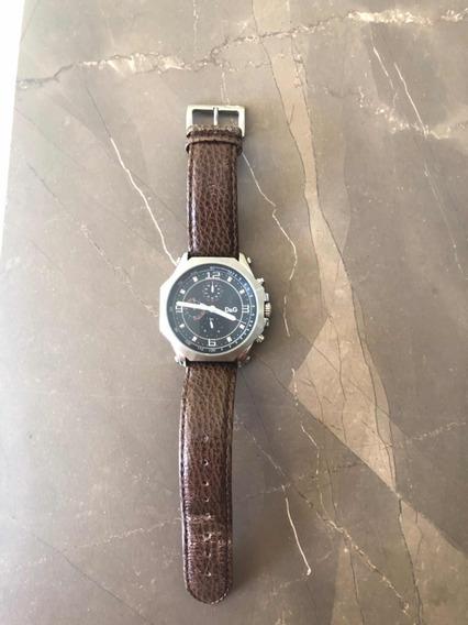 Relógio Dolce Gabbana Caixa De Aço E Pulseira De Couro Legit