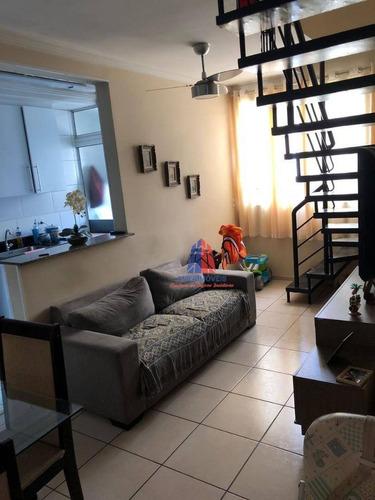 Imagem 1 de 28 de Cobertura Com 3 Dormitórios À Venda, 119 M² Por R$ 320.000,00 - Vila Belvedere - Americana/sp - Co0008