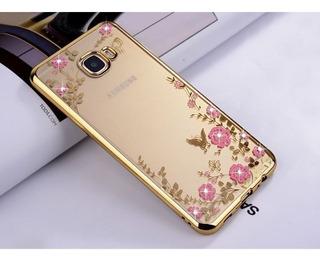 Funda Flores Slim Tpu Flexible Transparente Samsung Galaxy