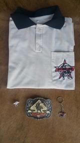 Camisa Creme Inspirada Pbr+fivela+bóton+chaveiro Iper Chique