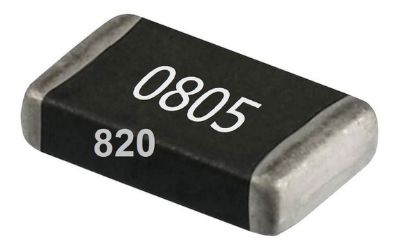 Resistores Smd 0805 1/8w 5% Pacote 100 Unidades