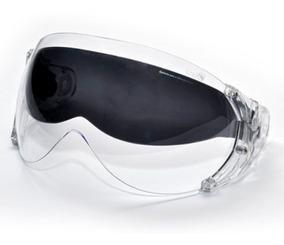Viseira Dupla Cristal C/ Óculos Fumê P/ Capacete Kraft Plus