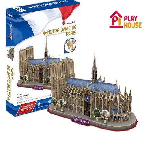 Rompecabezas 3d  Notre Dame De París  -playhouse