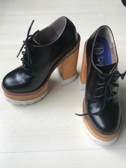 Zapatos Abotinados Plataforma Jeffrey Campbell Talle 7,5
