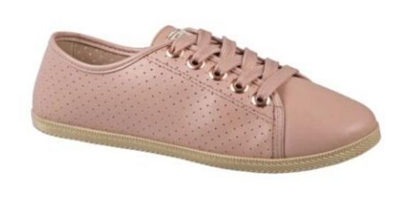 Tênis Casual Feminino Moleca Sneakers | Rosê | Preto