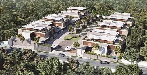 Casas Modernas De Lujo En Proyecto Cerrado