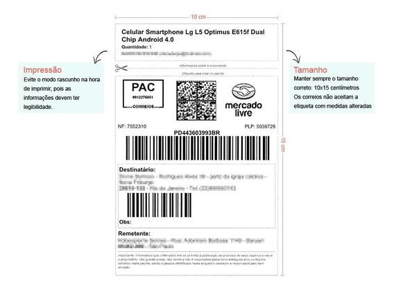 Kit 10 Rolos Etiqueta Mercado Envios 100x150 + 5 Ribbons