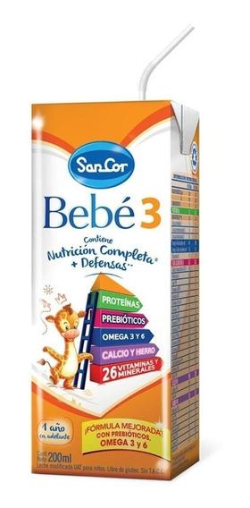 Leche de fórmula líquida Mead Johnson SanCor Bebé 3 sabor original por 60 unidades de 200mL