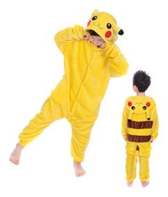 Pijama Infantil Pikachu Kigurumi Unicórnio - Pronta Entrega