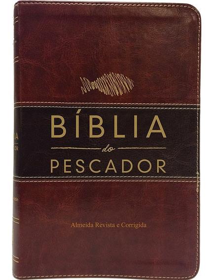 Bíblia Do Pescador Vinho Nobre Marrom Escuro Luxo Cpad