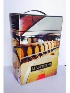 Mastroeni Malbec Bag In Box 5 Litros Caja X 4 Unidades