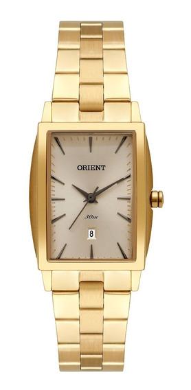 Relógio Orient Feminino Lgss1015 C1kx Dourado Quadrado