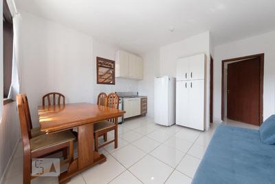 Apartamento Térreo Mobiliado Com 1 Dormitório E 2 Garagens - Id: 892919323 - 219323