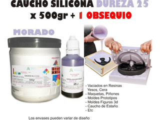 Caucho Silicona Mold 25 Estaño Liquido Moldes X500gescultura
