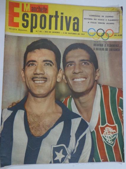 Revista Manchete Esportiva 98 Out 1957 Vasco Botafogo Flumin