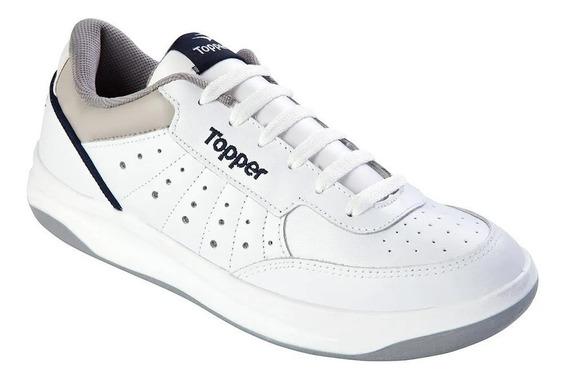Zapatillas Topper X Forcer Cuero Blanca (dos Modelos)