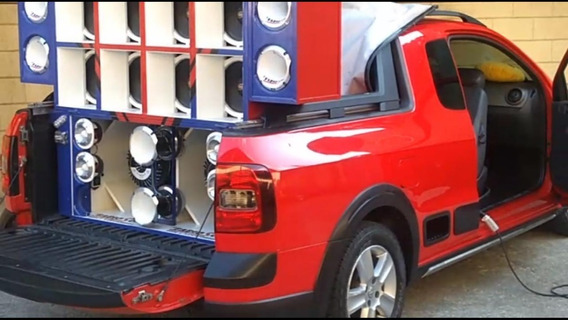 Volkswagen Saveiro 1.6 Flex Vermelha Com Som Automotivo
