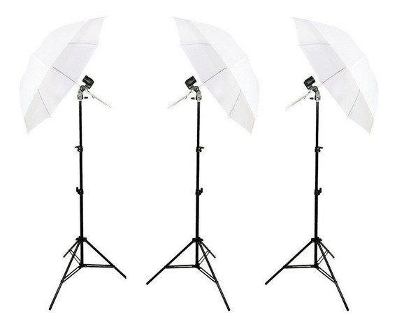 Kit 3 Iluminação Contínua Para Estúdio De Fotografia Newborn