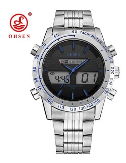 Relógio Masculino De Pulso Ohsen Ad1701 Quartzo Promoção