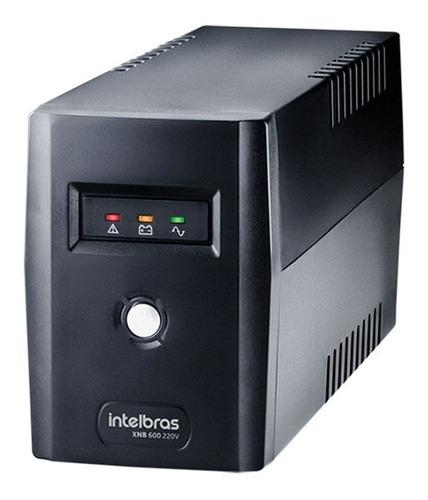 No break Intelbras XNB 600 600VA entrada e saída de 220V preto