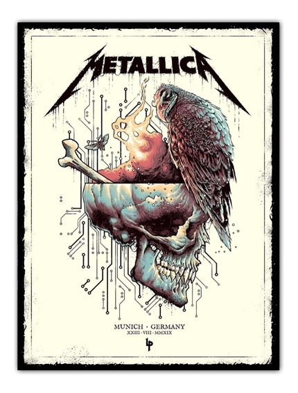 Poster Metallica Rock 60x80cm Cartaz Show Munique Alemanha