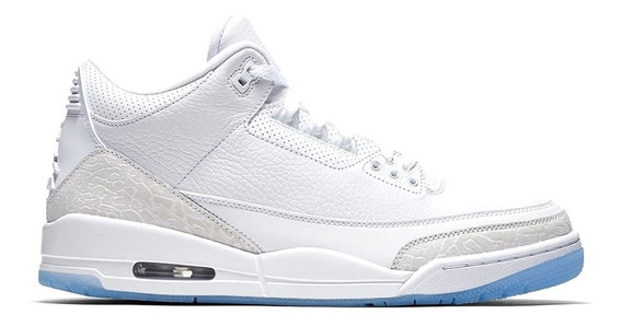 Tenis Nike Air Jordan 3 Pure White Hype Original