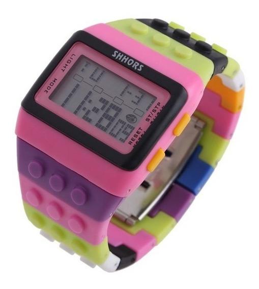 Relógio De Pulso Digital Lego Infantil Meninas Rosa Importad
