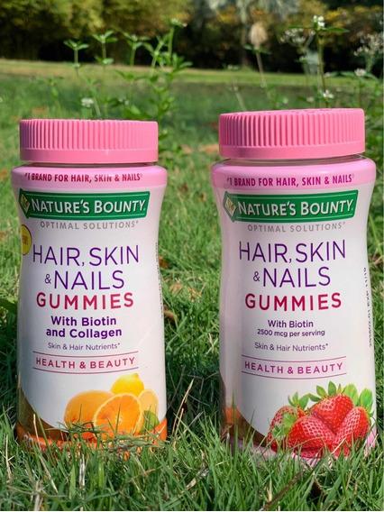 Vitaminas Con Biotin Para Cabello, Piel Y Uñas. 80 Gomitas