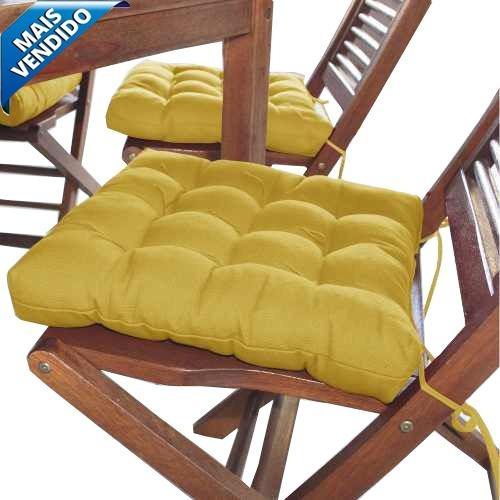Assento Para Cadeira Futon 40x40 Cm Oxford Mostarda